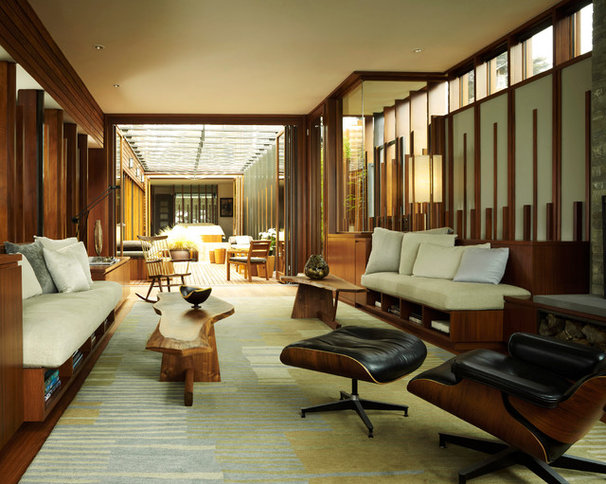 Modern Living Room by Dirk Denison Architects