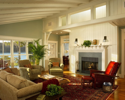 houzz green living room design ideas remodel pictures