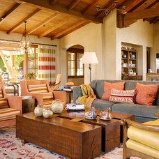 Mediterranean Living Room by ScavulloDesign Interiors