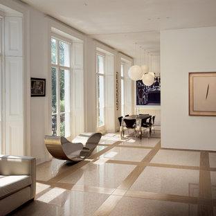Trendy living room photo in New York