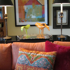 Eclectic Living Room by Carolyn Albert-Kincl, ASID