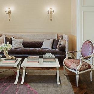 Living room - traditional enclosed dark wood floor living room idea in Phoenix