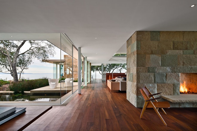 Modern Living Room by Neumann Mendro Andrulaitis Architects LLP