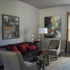 Modern Living Room by Janeane Pittman Interior Design