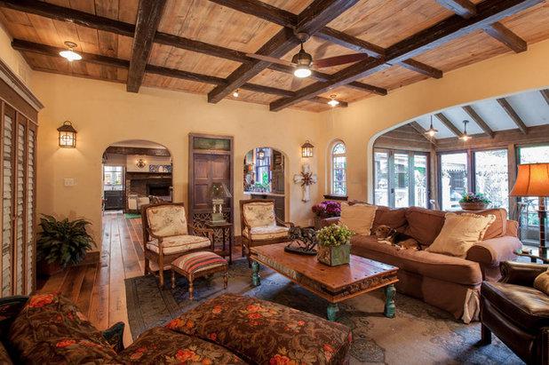 Rustic Living Room by Key Residential