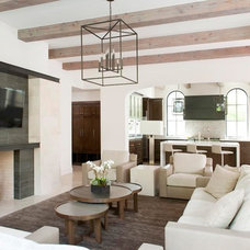 Contemporary Living Room by TATUM BROWN CUSTOM HOMES