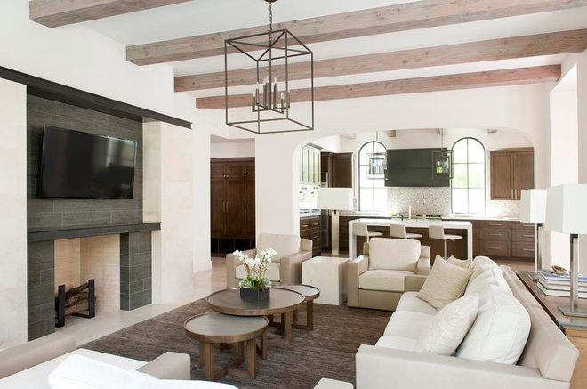 Contemporary Living Room by TATUM BROWN CUSTOM HOMES