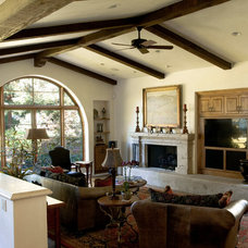 Traditional Living Room by Francis Garcia Architect