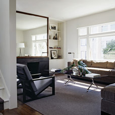 transitional living room by Cary Bernstein Architect