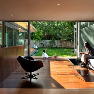 Minimalist open concept living room photo in DC Metro