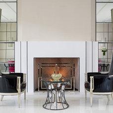 Contemporary Living Room by Jamie Herzlinger