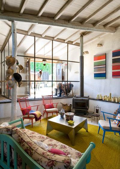 Casa de campo Salón by Oito interiores