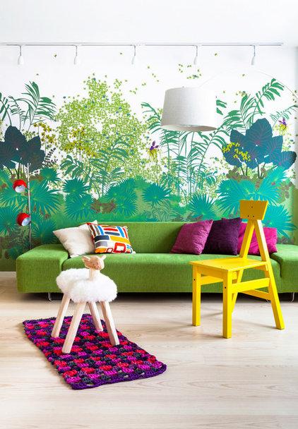 Tropical Living Room by Maurizio Giovannoni Architetto