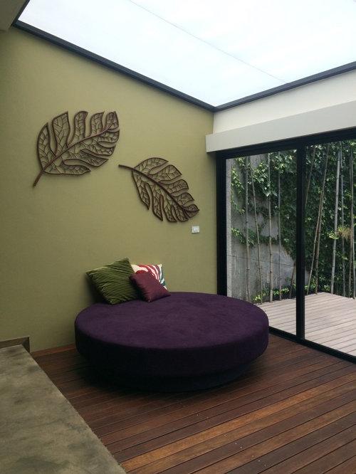 soggiorno con pareti verdi città del messico - foto e idee per ... - Soggiorno Pareti Verdi 2