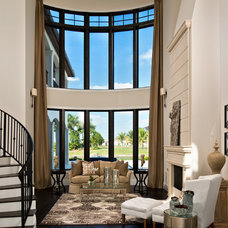Mediterranean Living Room by Fox Custom Builders, Inc.