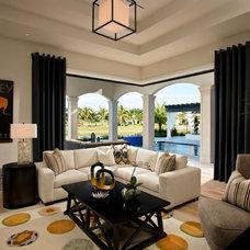 Mediterranean Family Room by Fox Custom Builders, Inc.