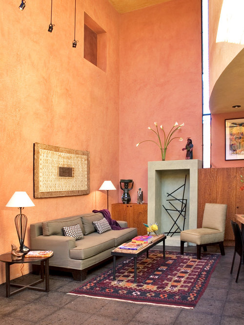 houzz peach paint color design ideas remodel pictures