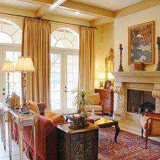 Mediterranean Living Room by Keesee and Associates, Inc.