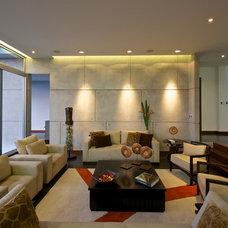 Contemporary Living Room Casa Zero Guatemala City