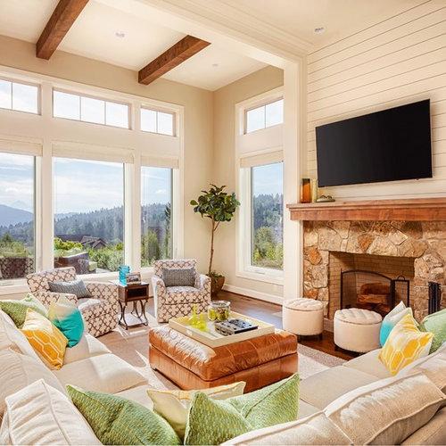Houzz Living Room Fireplace: Shiplap Fireplace Ideas & Photos