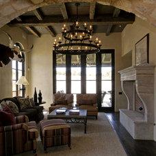 Mediterranean Living Room by Rachel Mast Design
