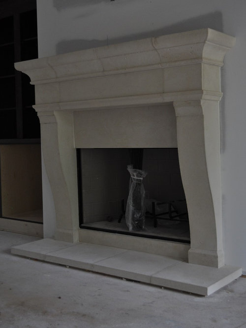 SaveEmail - Best Limestone Fireplace Mantel Design Ideas & Remodel Pictures