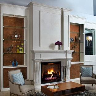 Cast stone fireplace overmantel