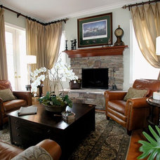 Traditional Living Room by Fortune | Design and Drapery