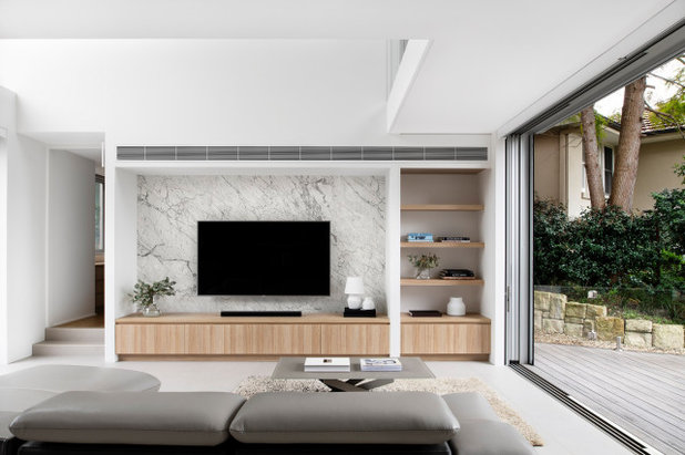 Contemporary Living Room by Justin Loe Architects