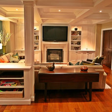 Traditional Living Room by Interior Works Inc