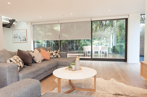 Contemporary Living Room by Haven Renovations