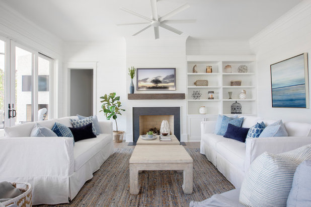Beach Style Living Room by The Guest House Studio, Allied ASID