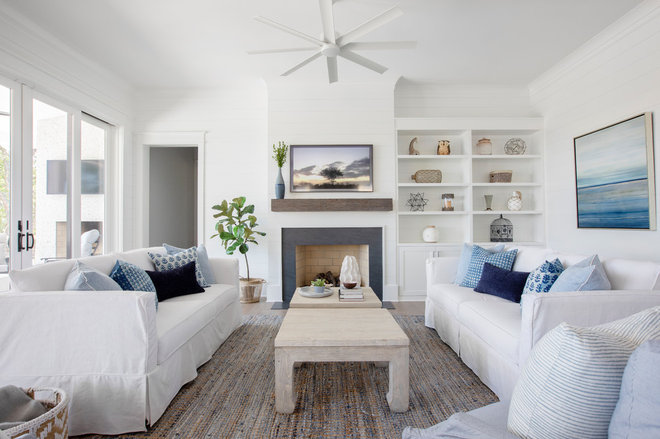 Beach Style Living Room by The Guest House Studio, ASID