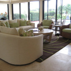 Beach Style Living Room by Interiors by Dawn, Inc.