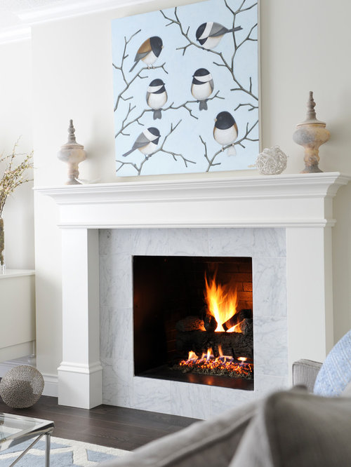 Carrera Marble Fireplace Home Design Ideas Pictures