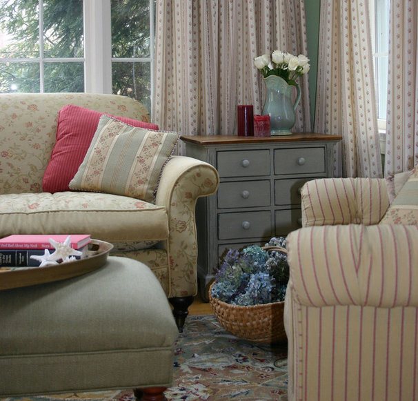 Traditional Living Room by Emily Elizabeth Interior Design