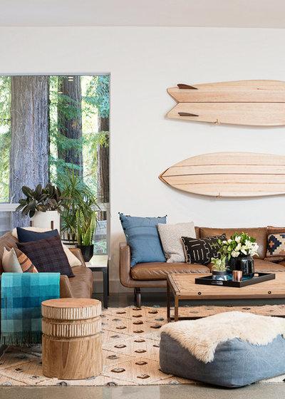 Beach Style Living Room by Regan Baker Design Inc.