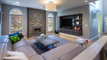 Casual Modern Family Room in Fairfield, CT