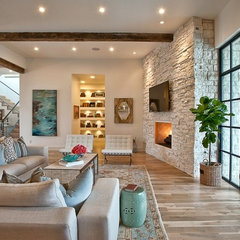 eclectic living room by Greenbelt Homes