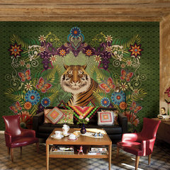 eclectic living room by Catalina Estrada