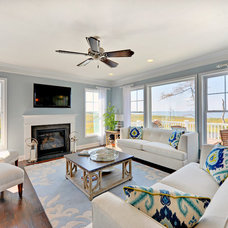 Beach Style Living Room by Schell Brothers