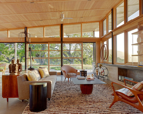 Midcentury Modern Living Room Houzz