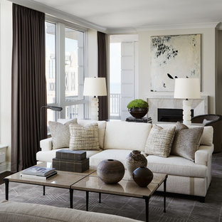 Beige And Cream Color Palette Living Room Ideas & Photos | Houzz