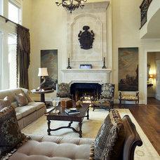 Traditional Living Room by CDA Interior Design