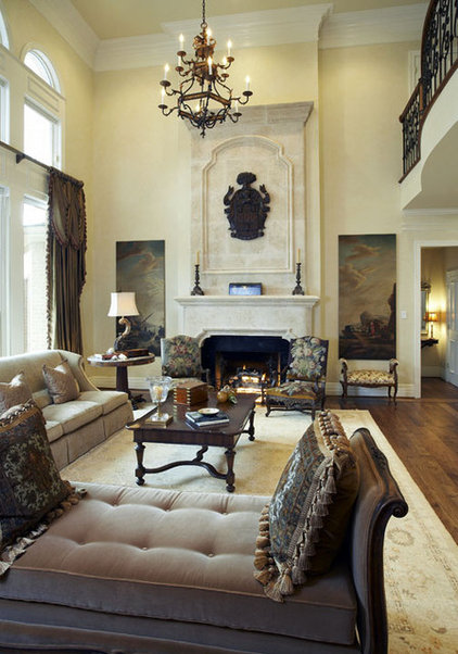 Traditional Living Room by CDA Interior Design