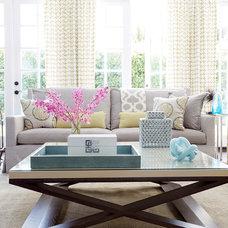 Transitional Living Room by Jennifer Davis Interior Design