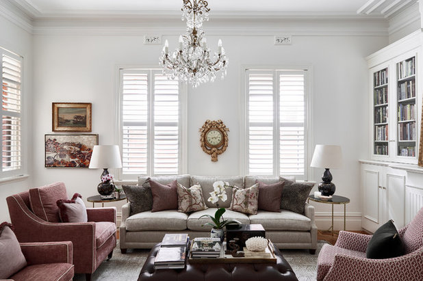 Traditional Living Room by Melissa Balzan Design