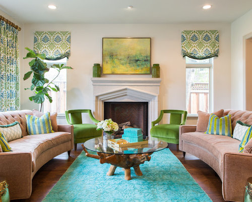 Fine Green Traditional Living Room Decorating Ideas Interior