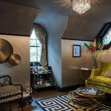 Eclectic Living Room by Elizabeth Holmes Design