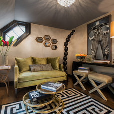 Eclectic Living Room by Elizabeth Holmes Design